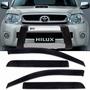 Calha Defletor Chuva Toyota Hilux Srv Pick Up 2005 / 13 4 Pt