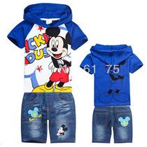 Conjunto Infantil Mickey Linda Camisa Bermuda P. Entrega