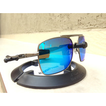 Oculos Deviation Grafite Lente Blue Ice Polarizada Foto Real
