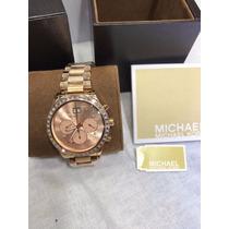 Relógio Michael Kors Feminino Original Bronze Completo