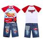 Conjunto Infantil Bebê Camisa Bermuda Bob Esponja Mcqueen