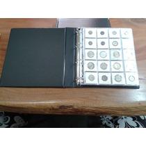 Album Collecione Médio P/ 200 Moedas/coins Holder Couro Eco.