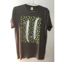 Camiseta Tshirt Hollister California Masculina Cinza G Large