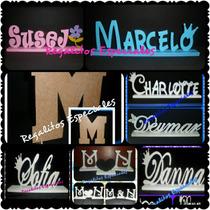 Letras En Mdf Pintadas Del Color De Su Preferencia De 12 Cm