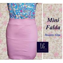 Mini Falda Confección Nacional (moda Mujer)