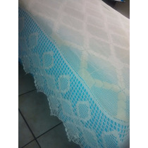 Colcha Croche Queen Creme 2,65x2,50 Linda Barra