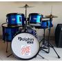 Bateria Infantil Dolphin 5pcs Kids Reduzida Sound Store