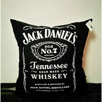 Cojín Regalo Logo Jack Daniels Botella Decorativo Impreso