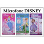 Microfone Musical Frozen Princesas Sofia C/ Pedestal Disney