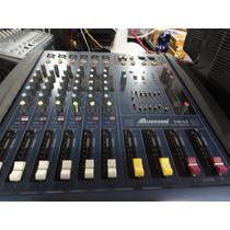 Consola 6 Canales Amplificada ,48 Phantom,audesbo Gm/6s
