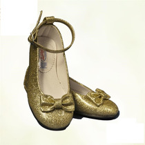 Zapato Para Princesa Color Dorado. Zapatilla Para Valiente.