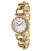 Relógio Feminino Fossil Es3349 Dourado Novo Original