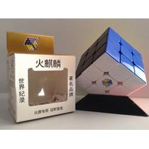 Cubo Rubik Yuxin Fire Cara Negra (base Regalo)
