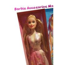 Juguete Para Niñas Muñecas Barbies Con Accesorios + Obsequio