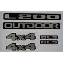 Kit Emblemas Resinados Mitsubishi L200 Gls Outdoor