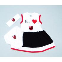 Conjunto Vestido Do Flamengo De 0 À 18 Meses (meninas)