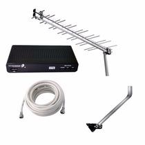 Conversor Receptor Digital Hdmi Usb + Antena + Cabo + Mastro