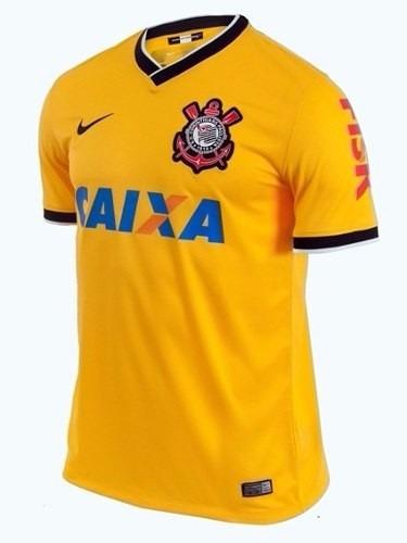 0edb5cb0a8081 Camisa Nike Oficial Corinthians 3 2014 Amarela - R  109