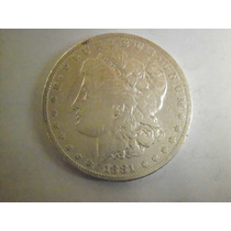 Usa 1 Dolar Morgan Fecha 1881 Plata Ley 0.900 26.6g 37mm