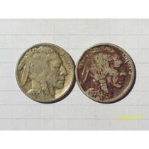 Estados Unidos 5 Centavos Bufalo 1930 Y 1938