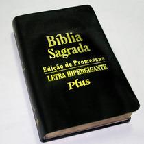 Bíblia Letras Hiper Gigantes Plus (evangélica) Luxo + Harpa