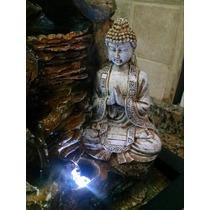 Fuente De Agua Buda Video Con Luz Suerte Zen Feng Shui (736)