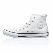 Zapatillas Botas Converse All Star Cuero Blanco (138419)