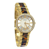 Relógio Feminino Fossil Es3314 Dourado Novo Original