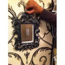 Espelho Provençal Em Resina Preto