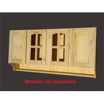 Alacena De Pino 1.40 Mts Con Especiero Cuotas Sin Interes