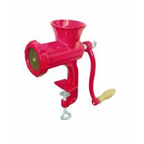 Maquina Picar Picadora Carne Pintada Manual Hierro Roja Nº10