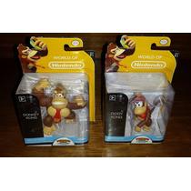 Donkey + Diddy Kong - World Of Nintendo Bonecos Miniaturas