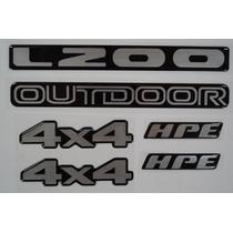 Kit Emblema Mitsubishi L200 Outdoor Hpe Resinados