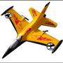 Avião Planador F16 - 4-ch Radio Aeromodelo Em Epp