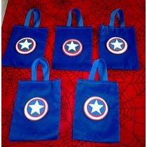Sacola/sacolinha Personalizada Infantil Capitão América 10un