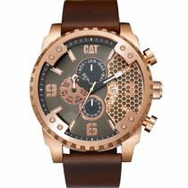 Cat Watches Grid 52mm Piel Acero Grande Sc19935129 Diego Vez
