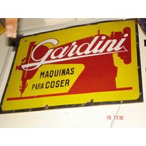 Antiguo Cartel Enlozado De Gardini