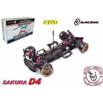 Sakura D4 - Awd - Kit 1/10 - 3 Racing - Pronta Entrega