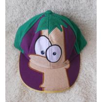Phineas Y Ferb!! Padrísima Gorra, Bordada, Para Niño!!