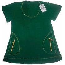 Blusa De Malha Com Costuras Em Fio Dourado Joyaly - G