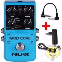 Pedal Guitarra Nux Mod Core 8 Efeitos + Brinde Loja Kadu Som