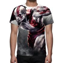 Camisa, Camiseta Game God Of War Kratos - Estampa Total