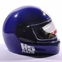 Casco Halcon H5 Kids Talle Xxs/xs Negro Azul Jm Motos