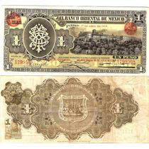 Billete De Un Peso Sello Redondo