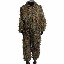 Traje De Camuflaje Outerdo 3d Leafy Ghillie Suit Woodland