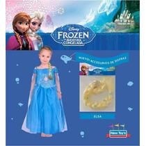 Trenza Frozen Elsa Accesorio Para Disfraz Original De Disney