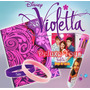 Violetta Pack Diario + Caneta 8 Cores+ Baralho + 2 Pulseiras