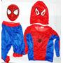 Combo Disfraz Hombre Araña + Mascara Rigida Spiderman