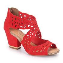 Sandália Salto Feminina Dakota - Vermelho