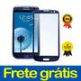 Tela Vidro Samsung Galaxy S3 Gt I9300 Azul Original Promoção